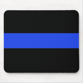 Thin Blue Line Law Enforcement Mouse Pad