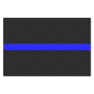 Thin Blue Line Memorial Symbol on Tissue Paper