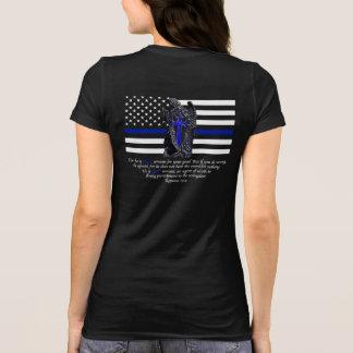 Thin Blue Line Michael the Archangel T-Shirt