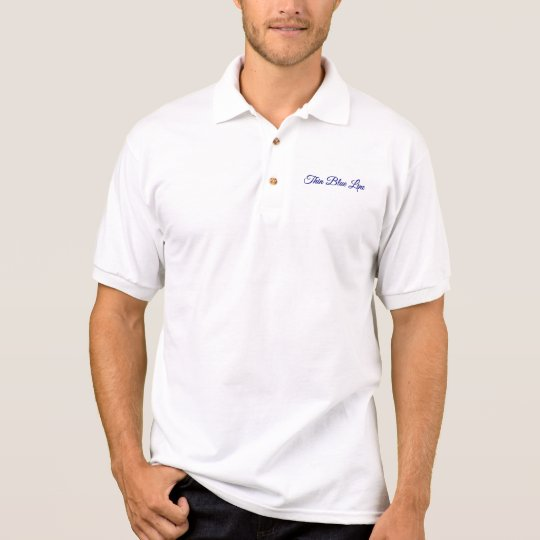 Thin Blue Line Monogram Polo Shirt