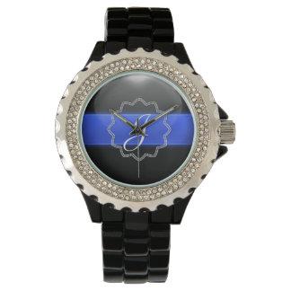Thin Blue Line - Monogram Watch