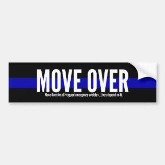 Thin Blue Line Move Over Bumper Sticker