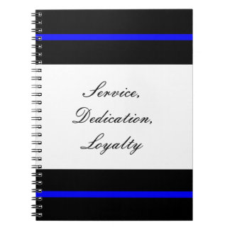 Thin blue line notebook