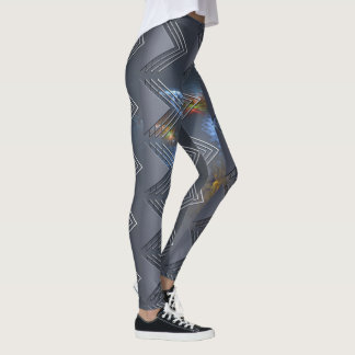 Thin Blue Line - OctoSpace Leggings