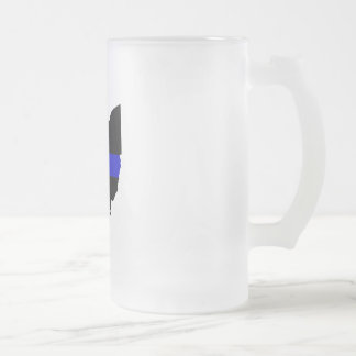 Thin Blue Line Ohio Frosted Mug