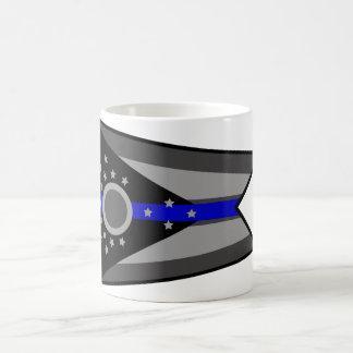 THIN BLUE LINE OHIO STATE FLAG COFFEE MUG
