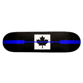 Thin Blue Line on Canadian Flag Decor Skate Board Deck