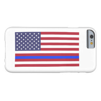 """""""THIN BLUE LINE on FLAG"""" Barely There iPhone 6 Case"""