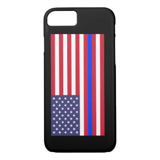 """""""THIN BLUE LINE on FLAG"""" iPhone 7 Case"""