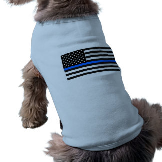 """THIN BLUE LINE on FLAG"" Shirt"