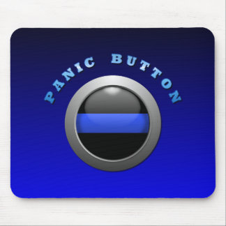Thin Blue Line - Panic Button Mouse Pads