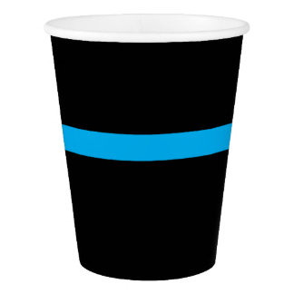 """""""THIN BLUE LINE"""" PAPER CUP"""