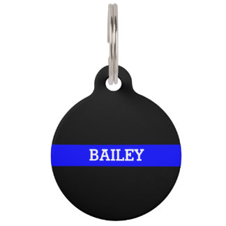 Thin Blue Line - Personalized Custom Pet Tag
