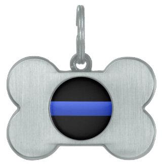 Thin Blue Line Pet ID Tag