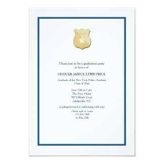 Thin Blue Line Police Academy Graduation Party Card