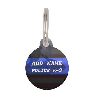 Thin Blue Line Police K9 Dog Tag