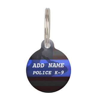 Thin Blue Line Police K9 Dog Tag Pet ID Tags