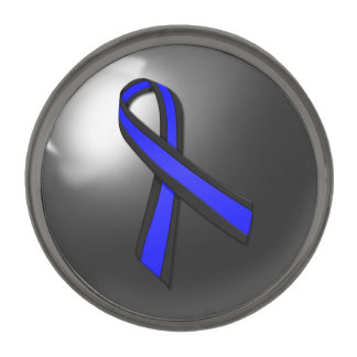 Thin Blue Line Police Ribbon Lapel Pin