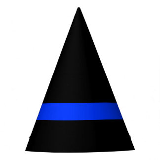 Thin Blue Line Police Themed Party Party Hat