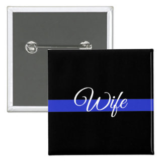 Thin Blue Line: Police Wife 15 Cm Square Badge