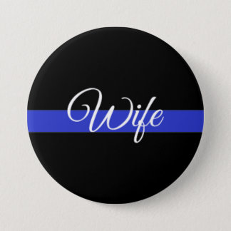 Thin Blue Line: Police Wife 7.5 Cm Round Badge