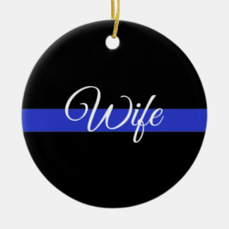 Thin Blue Line: Police Wife Christmas Ornament