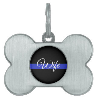 Thin Blue Line: Police Wife Pet ID Tag