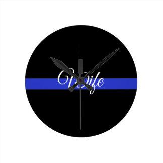 Thin Blue Line: Police Wife Wallclock