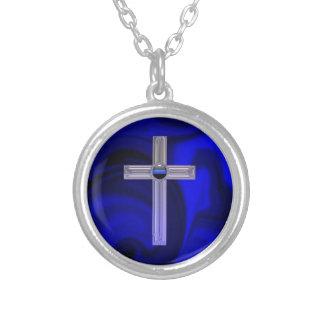 Thin Blue Line Safety Prayer Pendant