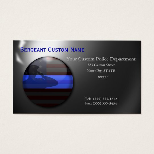 Thin Blue Line - Saluting Balls of Steel Business Card