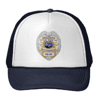 Thin Blue Line - Shackled to the Brotherhood Badge Hats