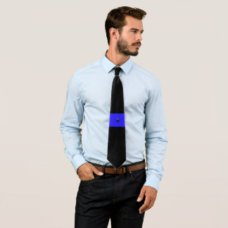 Thin Blue Line Shamrock Buttons Tie