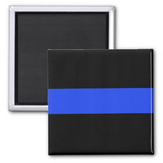 Thin Blue Line Square Magnet