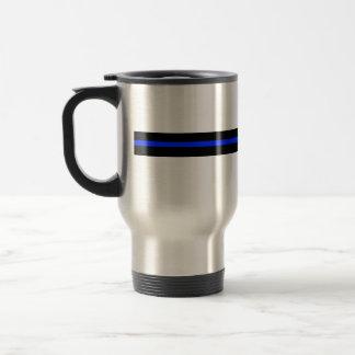 Thin Blue Line Stainless Steel Travel Mug