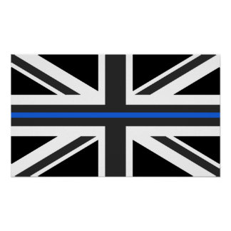 Thin Blue Line UK Flag Poster