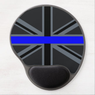 Thin Blue Line Union Jack Decor Gel Mouse Pad