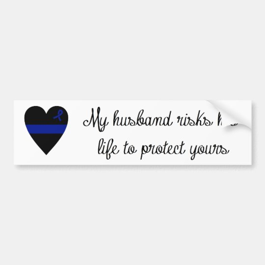Thin Blue Line Wife Bumper Sticker