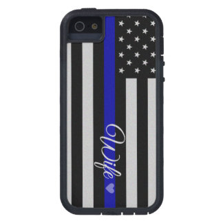 Thin Blue Line Wife Flag iPhone 5 Case