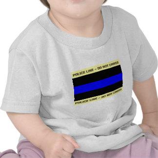 Thin Blue Police Line Tee Shirts