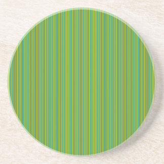 Thin Green Stripes custom coaster