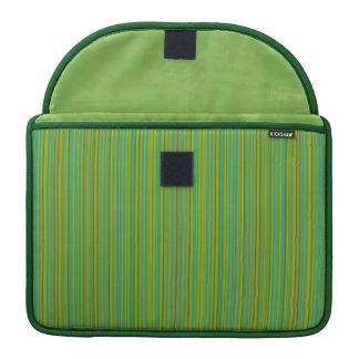Thin Green Stripes custom MacBook sleeve