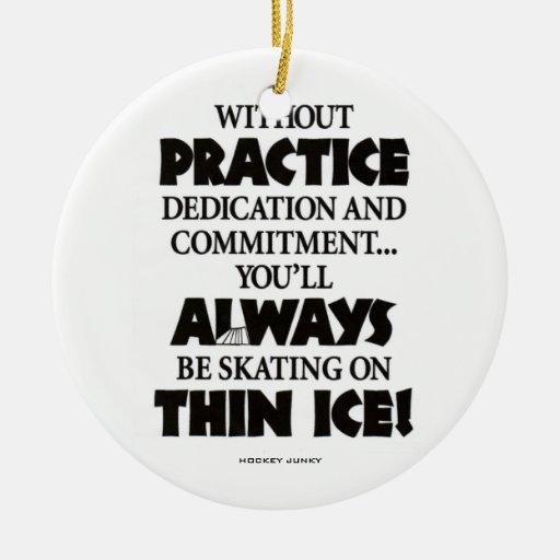 THIN ICE CHRISTMAS TREE ORNAMENTS