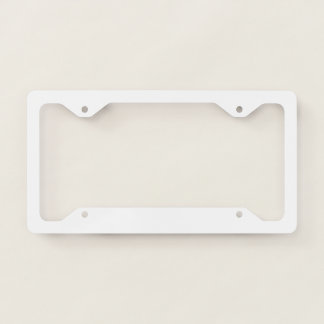 Thin License Frame Plate