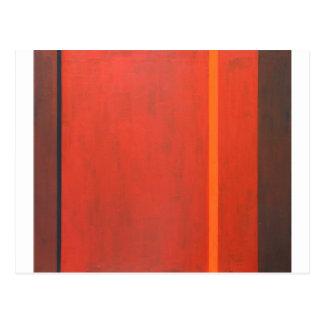 Thin Orange Band (geometric minimal expressionism) Postcards