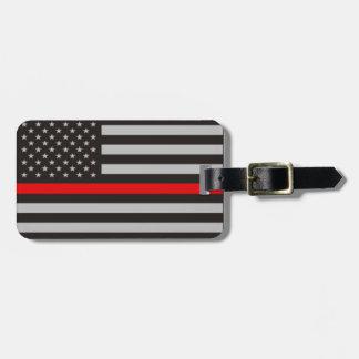 THIN RED LINE AMERICAN FLAG LUGGAGE TAG