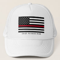 Thin Red Line Firefighter American Flag Monogram. Hats   Hair Accessories 3d4db8241776
