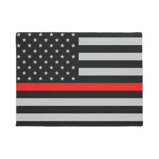Thin Red Line Flag Doormat