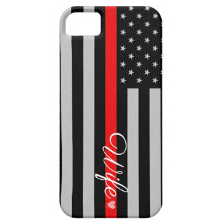 Thin Red Line Flag Wife iPhone 5 Case