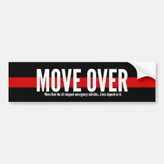 Thin Red Line Move Over Bumper Sticker