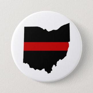 Thin Red Line Ohio Button